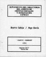 Suplemento del Directorio del ambito de ciencias sociales y humanas del CONICET - 1993.pdf