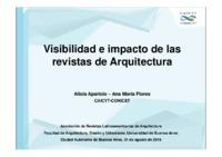 Visibilidad e impacto de las revistas de Arquitectura (2).pdf