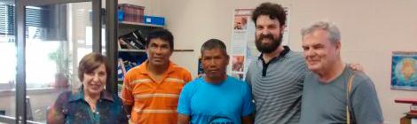 Visita  de representantes de la Comunidad Ayoreo de Campo Loro