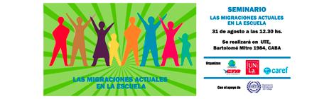 """31/07 Seminario """"Las Migraciones actuales en las escuelas"""""""