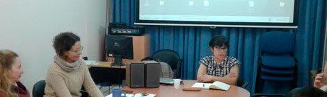Visita de estudios de la Lic. Andrea Salazar al Área de Investigación - DILA