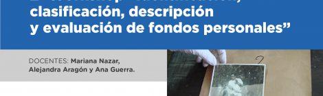 """2º Workshop """"Identificación, clasificación, descripción y evaluación de fondos personales"""""""