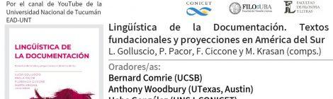 Presentación del libro Lingüística de la documentación. Textos fundacionales y proyecciones en América del Sur