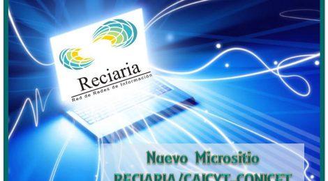 Nuevo micrositio Reciaria / CAICYT-CONICET
