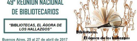 RECIARIA en la 49° Reunión Nacional de Bibliotecarios - ABGRA