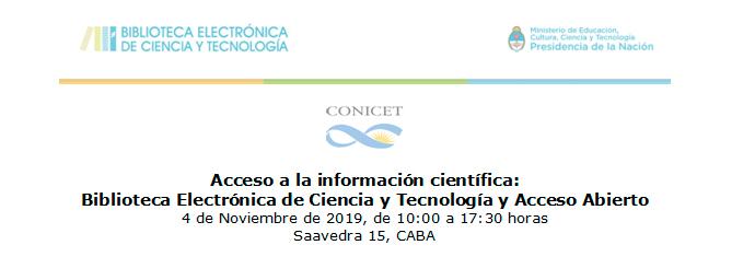 Acceso a la información científica: Biblioteca Electrónica de Ciencia y Tecnología y Acceso Abierto